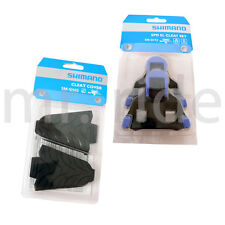 mr-ride Genuine Shimano Cleat Cover SM-SH45 + Cleat Set SM-SH12 Blue 2018