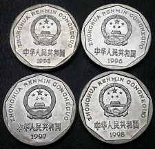 Lot of 4x China Coins - 1993 1996 1997 1998 1 Yi Jiao ***Great Condition***