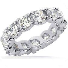 Band F-G Si1/Si2 size 6, 0.35 ct 4.55 carat Round Diamond Eternity Ring 18K Gold