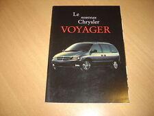 CATALOGUE Chrysler Voyager de 1996