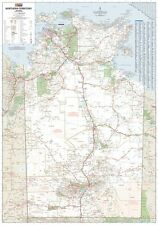 (LAMINATED) SUPER MAP OF NORTHERN TERRITORY STATE AUSTRALIA POSTER (100x140) ART