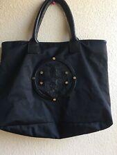 Tory Burch Black Marion Nylon Logo Tote Shoulder  Bag  PreOwned Read Descrip