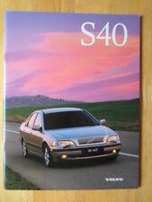 VOLVO S40 Range 1997 UK Mkt prestige sales brochure - T4