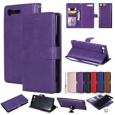 For Sony XZ Premium XA1 Ultra Z3 Z5 Removable Magnetic Leather Wallet Case Cover