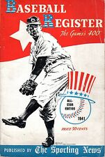 "1941 The Sporting News,Baseball Register magazine The Games's ""400"" All-Star Ed."