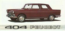 Peugeot 404 Brochure - 1968 - Excellent Condition