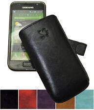 Hülle für Samsung Galaxy S (i9000) Tasche Echt Leder Etui Case Schutz mit Lasche