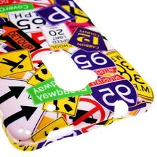 Hard Cover Protector Case for HTC One Max T6 - Traffic Road Street Signs