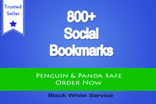 Create 800 social bookmark SEO backlinks in 36 hours, great for youtube video