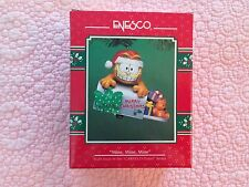 Garfield Christmas Ornament Enesco 1978 Mine, Mine, Mine with box RARE!