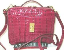Brahmin Evie Fuschia La Scala Leather Top Handle Crossbody Handbag NWT $265