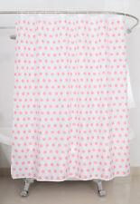 FABRIC SHOWER CURTAIN Pink Dot Fabric Shower Curtain