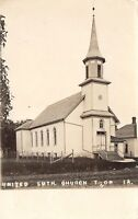 Thor Iowa~United Lutheran Church~Sang Solo~Rev Soude~House~Wire Fence~1910 RPPC