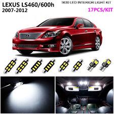 17Lamps Xenon White 6000K Interior Light Kit LED For 2007-2012 LEXUS LS460/600h