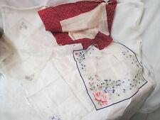 Vintage 4 Handkerchiefs Silk & Silk/blend