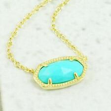 NWT Kendra Scott Elisa Turquoise Short Necklace Gold Tone