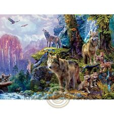 1000 Piece Wolves - Wolves Of National Park Fun Puzzle Relax Jigsaw Hobby