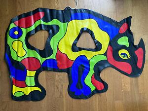 Niki de Saint Phalle : Rhinocéros sculpture gonflable, EO 1999 Flammarion 4 rare