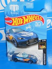 Hot Wheels 2018 Nightburnerz Series #40 '15 Mazda MX-5 Miata Blue MAD MIKE