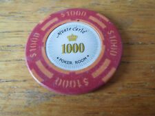 $1000 Poker Chip Golf Ball Marker  - Monte Carlo - Heavy 14g Chip