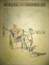 SOUVENIR DE PLAGE BORD DE MER ATTELAGE JOURNAL SOLEIL DU DIMANCHE 1893