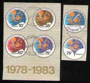 Singapore. 304, 359 & 426-29. ASEAN Submarine Cable Network. Set of 6. Used.