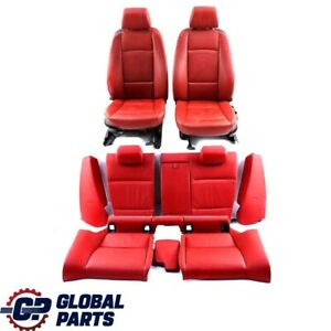 BMW 3 Series E92 Coupe Heated Red Leather Interior Seats With Door Cards