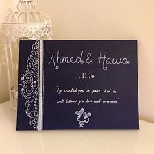 Islamic Canvas Hand Painted Arabic Calligraphy- Wedding/engagement Canvas
