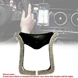 Interior Air Vent Phone Holder Clip Chrome Silver Crystal Diamond Rhinestone