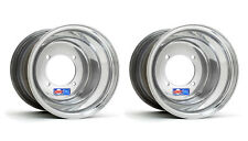 "DWT Polished ATV Rear Wheels Rims PAIR 9"" 9x8 Yamaha Blaster 200 Tri-Z 250 4x100"