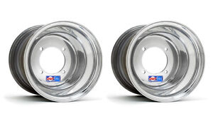 "DWT Polished ATV Rear Wheels Rims PAIR 10"" 10X10 Honda 450R 400EX 250R 350X"