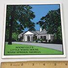 """Vtg Roosevelt's Little White House Warm Springs Georgia 6"""" Ceramic Tile Trivet"""