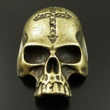 8pcs Antique Bronze Vintage Alloy Skull Head Mask Pendant Charms 35713