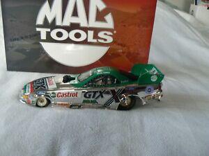 JOHN FORCE 2002 1/24 CASTROL GTX MUSTANG FUNNY CAR (CHROME)