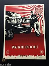 """Shepard Fairey """"Cost of Oil"""" Obey Giant SIGNED & NUMBERED 2008 *MINT*"""