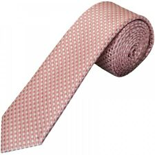 Rose Gold Diamond Neat Skinny Men's Tie Slim Tie Thin Tie Neck Tie Wedding
