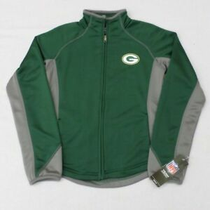 NFL Green Bay Packers Girls Youth Full Zip Polyester Jacket Sz 7-8