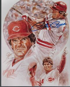 PETE ROSE 8x10 PETRONELLA LITHOGRAPH AUTOGRAPHED WITH COA