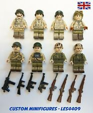 8pc US 101st Airborne Soldier Military WWII Custom Minifigure + FREE LEGO BRICK