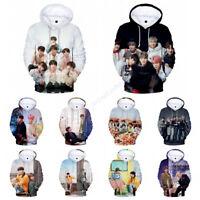 Kpop BTS Bangtan Boys 3D Pullover Hoodie Sweatshirt JUNG KOOK JIMIN JIN V SUGA