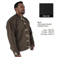 15th Century Doublet Wool / Linen BROWN LARGE Medieval Costume or Re-enactment