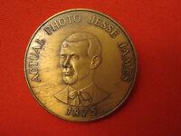 VINTAGE 1873-1973 CENTENNIAL MEDAL JESSE JAMES ADAIR IA WESTERN TRAIN ROBBERY