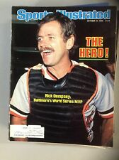 October 24 1983 Rick Dempsey Baltimore Orioles Baseball Sports Illustrated OLD
