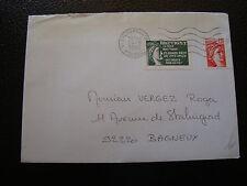 FRANCE enveloppe 1980(vignette de protestation bretigny sur orge)(cy6)french