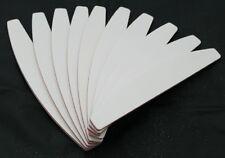 50 Stück Halbmond Profi-Feilen Feile weiß extra breit Fräser 100/180 Grit 50St.