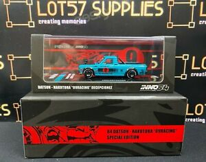 INNO64 2021 Release 1984 DATSUN HAKOTORA 09 Racing DECEPCIONEZ Pickup Truck 1:64