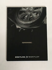 BREITLING WATCH DISPLAY CARD. BREITLING FOR BENTLEY.