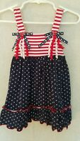 Sophie Rose Toddler Girl Dress 12 month Patriotic USA Red White Blue 4th of July