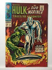 TALES to ASTONISH 93 (MARVEL Comic 7/67) SILVER SURFER vs HULK! Sub-Mariner 6.0