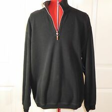 Tommy Bahama Reversible 1/2 Zip Pullover Sweater Black and Brown Men's S-M